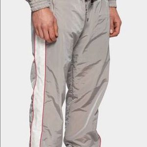 Filling Pieces Grey Logo Track Pants Size L
